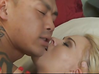 AMWF Krissy Lynn interracial with Asian guy