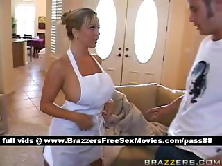 Mature busty blonde slut at home