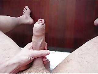 Cumming in my Long Foreskin