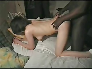Homemade interracial gangbang