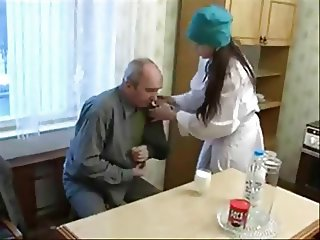 Young Nurse and Old Patient