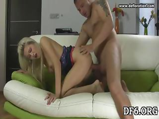 Stretching innocent pussy