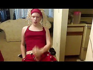 Hot Young Crossdresser Jerks And Squirts II