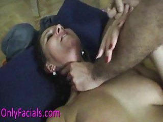 Hot Lucie gets rough facial on the floor