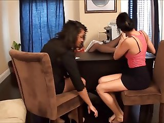 Simona learns how to smell bosses feet