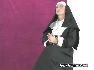 Two sexy nuns sucking each others huge part3