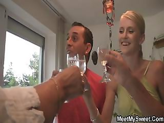 She have fun with her BF's parents