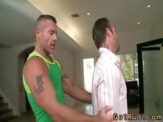 Guy gets ass stuffed with toy and cock part1