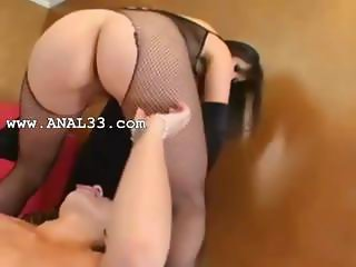 lesbians with sexy lingerie fisting butt