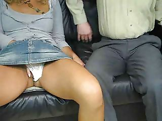 mature woman give  boy a handjob