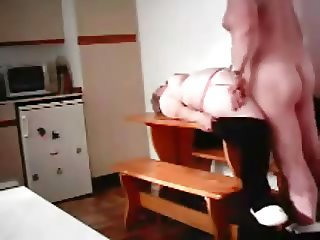 mature plump British couple fucking on the kitchen table