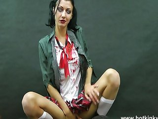 Vampire girl love anal toys and fisting