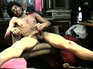 Wanking in his room