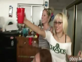 Wild and horny ladies banged good in this hardcore sex party