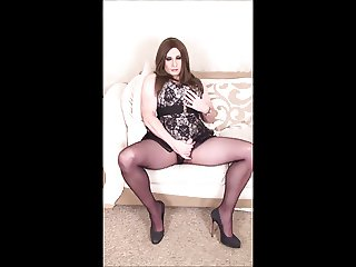 Crossdresser playing