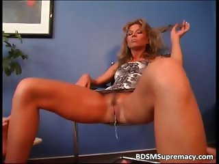Weird BDSM scene where slut has a tampon part1