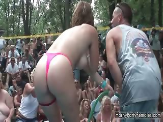 Horny busty girl stripping and getting part3