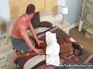 Big guy gets horny rubbing part6