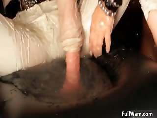 Busty brunette woman gets horny rubbing part2