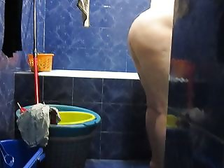 spy granny in shower #8