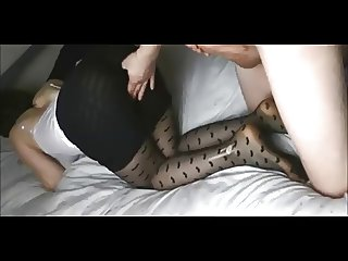 Amateur Wife in Stockings Gets Fucked on Homemade