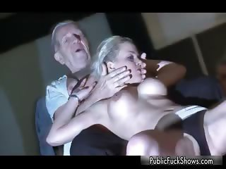 Busty blonde whore gets horny showing part3