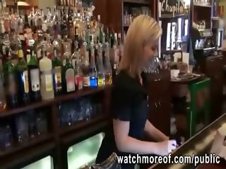 Bartender chick gets fucked during work