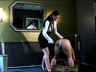 Mistress Spanks His Ass!!!!!!!