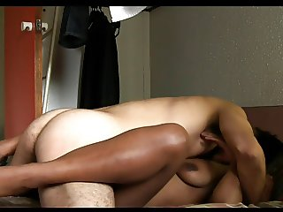 Horny Black Girl Sucks And Fucks With White Guy