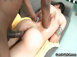 Huge black monster gets hot blowjob part6