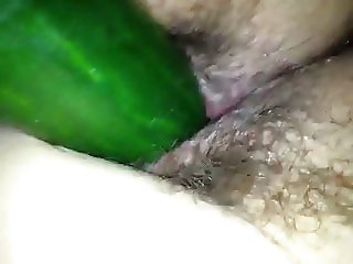 unaware wife fucked with fat cucumber undercover