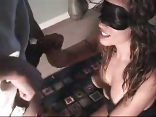 Blindfold wife 3some with 1 extreme cumshot