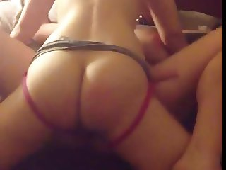 Wife Tied to The Bed and Fucked By Her Girlfriend