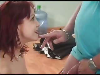 Woman Gets Cum In Her Face And Mouth
