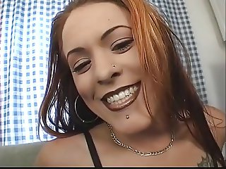 Sexy gothic anal girl