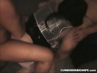 Slutwife gets gangbanged by a soccer team