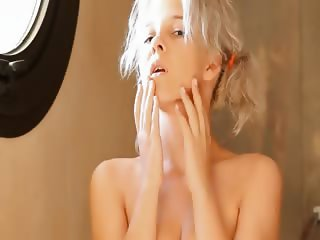 Shaving of beautiful 22yo blonde pussy
