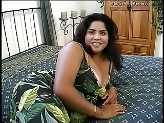 Curvy whore undresses and licks on her large tits then fucks