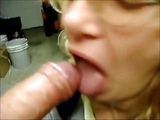 granny gets cumshot on tongue