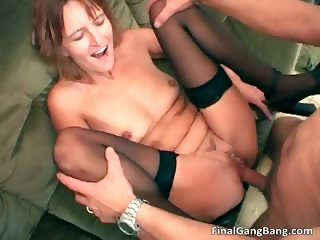 Dirty brunette MILF hoe getting fucked part4