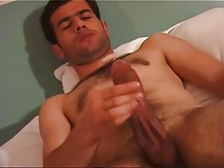sexy man wank thick cock and cum