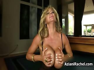 Busty blonde babe gets horny riding part2
