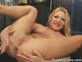 Awesome blonde slut gets fucked hard part1