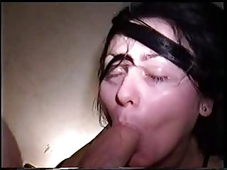 Amateur Homemade Sucking in Satin Lingerie