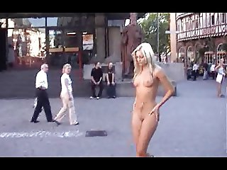 Sabrina Nude in Public Frankfurt Germany