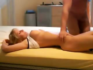 Beautiful blonde making love with her man - homemade porn video