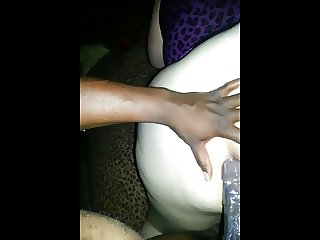 Slut sucks and gets fucked by a black