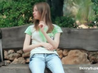 Cute teen babe gets horny showing off part2