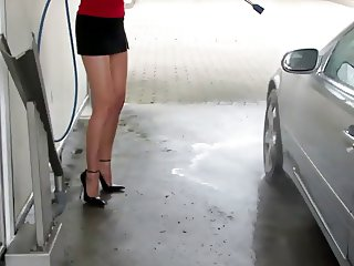 pantyhose car wash