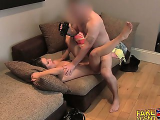 FakeAgentUK Tight young half asian refuses anal but gets big orgasm